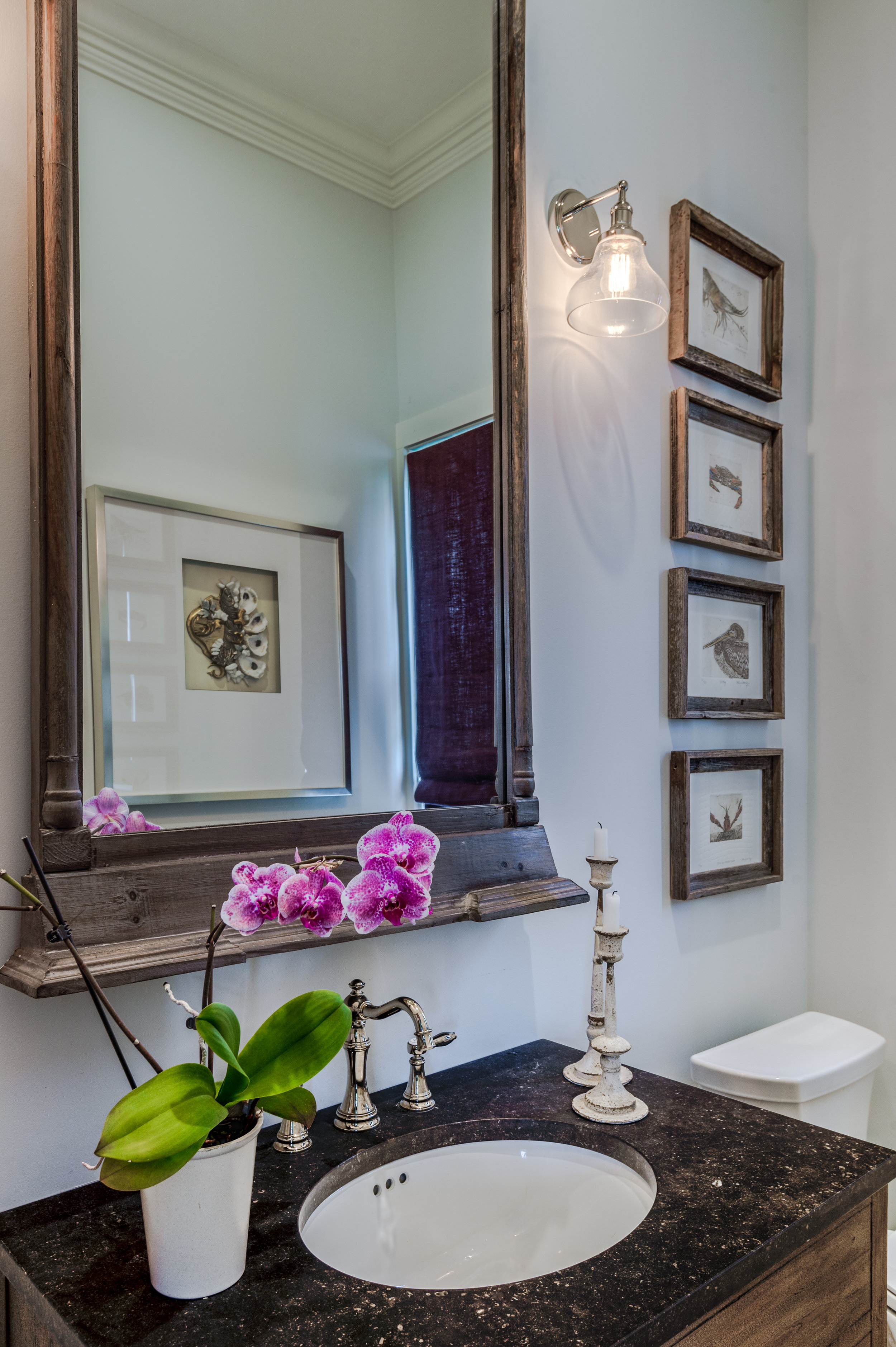 KHB Interiors powder room art new orleans old metairie lakeview interior decorator interior designer metairie.jpg