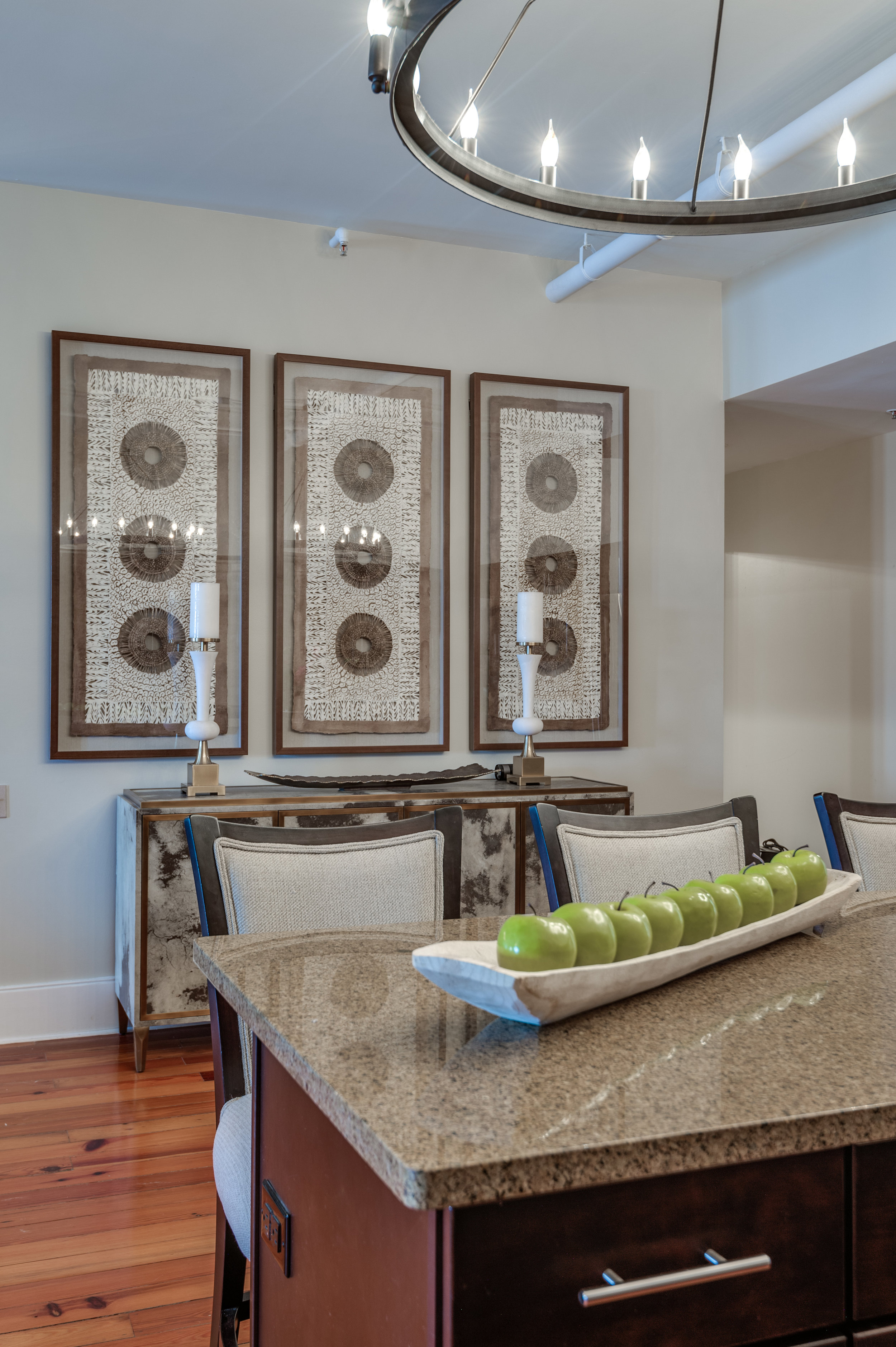 dining area wall art metairie luxury interiors design khb interiors