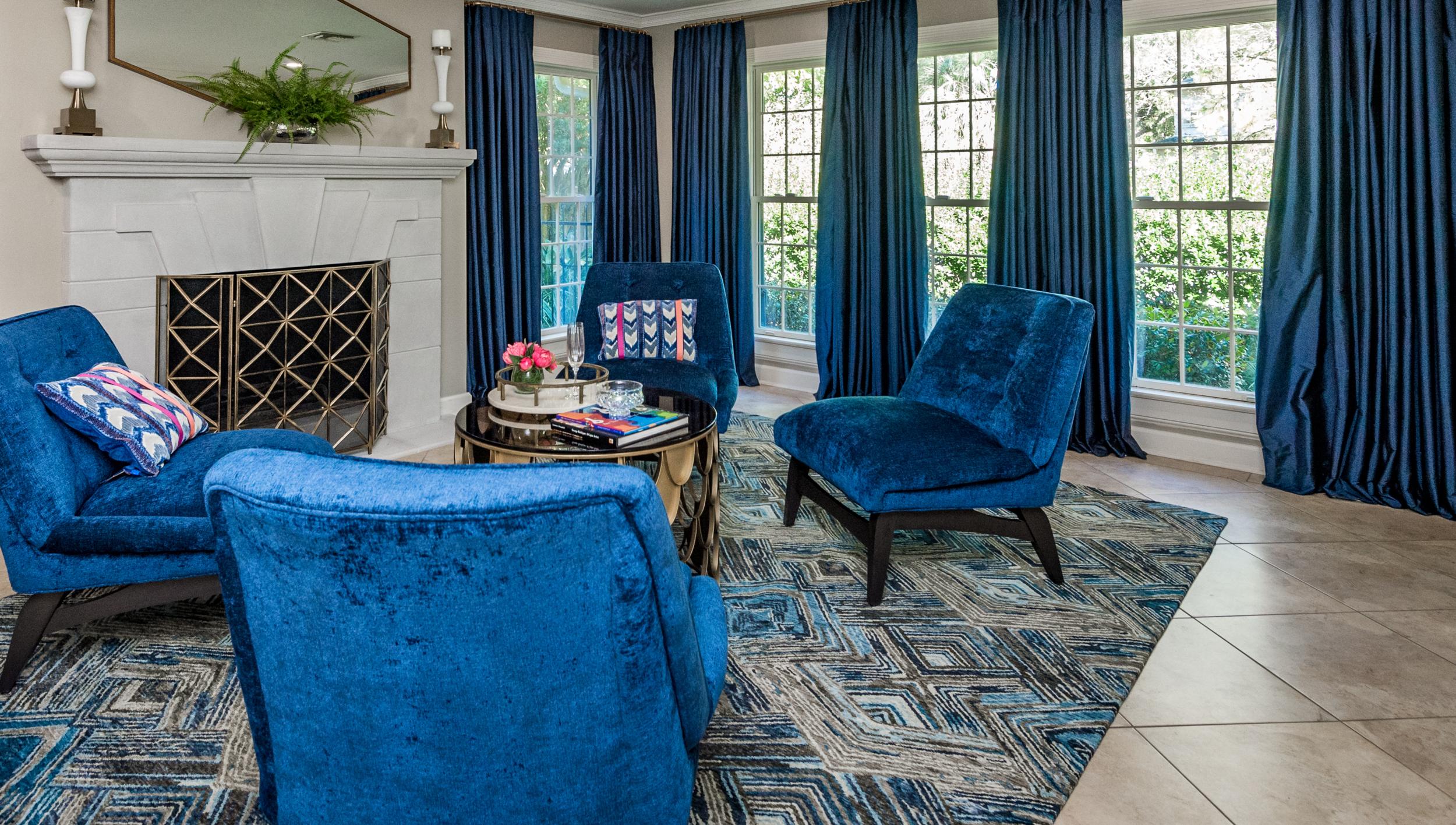 custom drapery new orleans interior decorator metairie interior designer