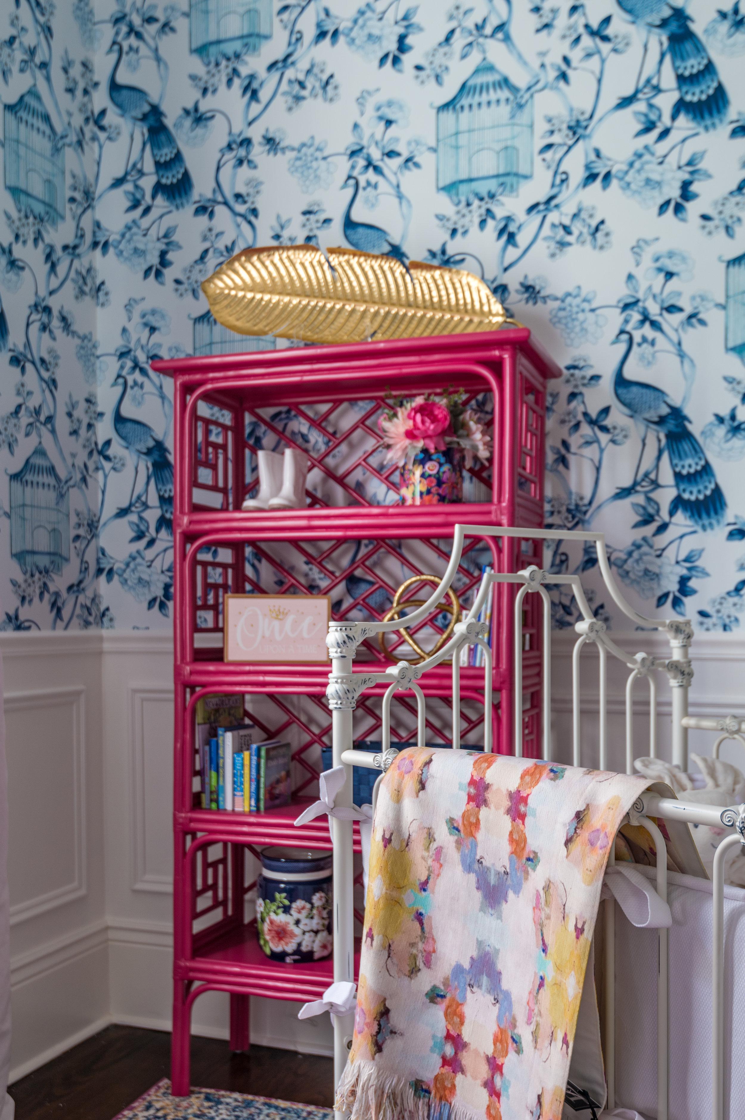 nursery shelf decor metairie designers khb interiors