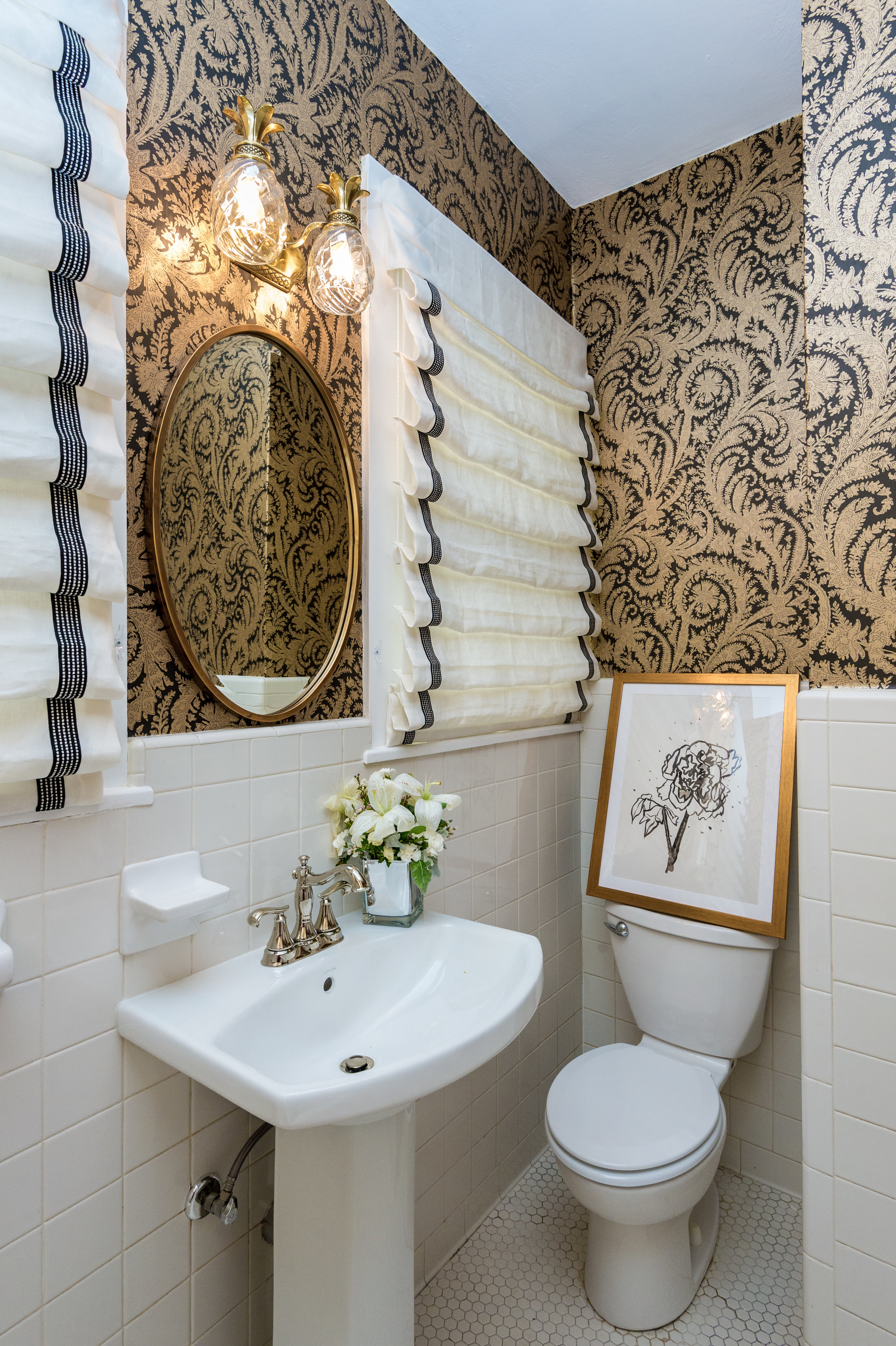 bathroom wallpaper ideas metairie uptown residential interior design khb interiors