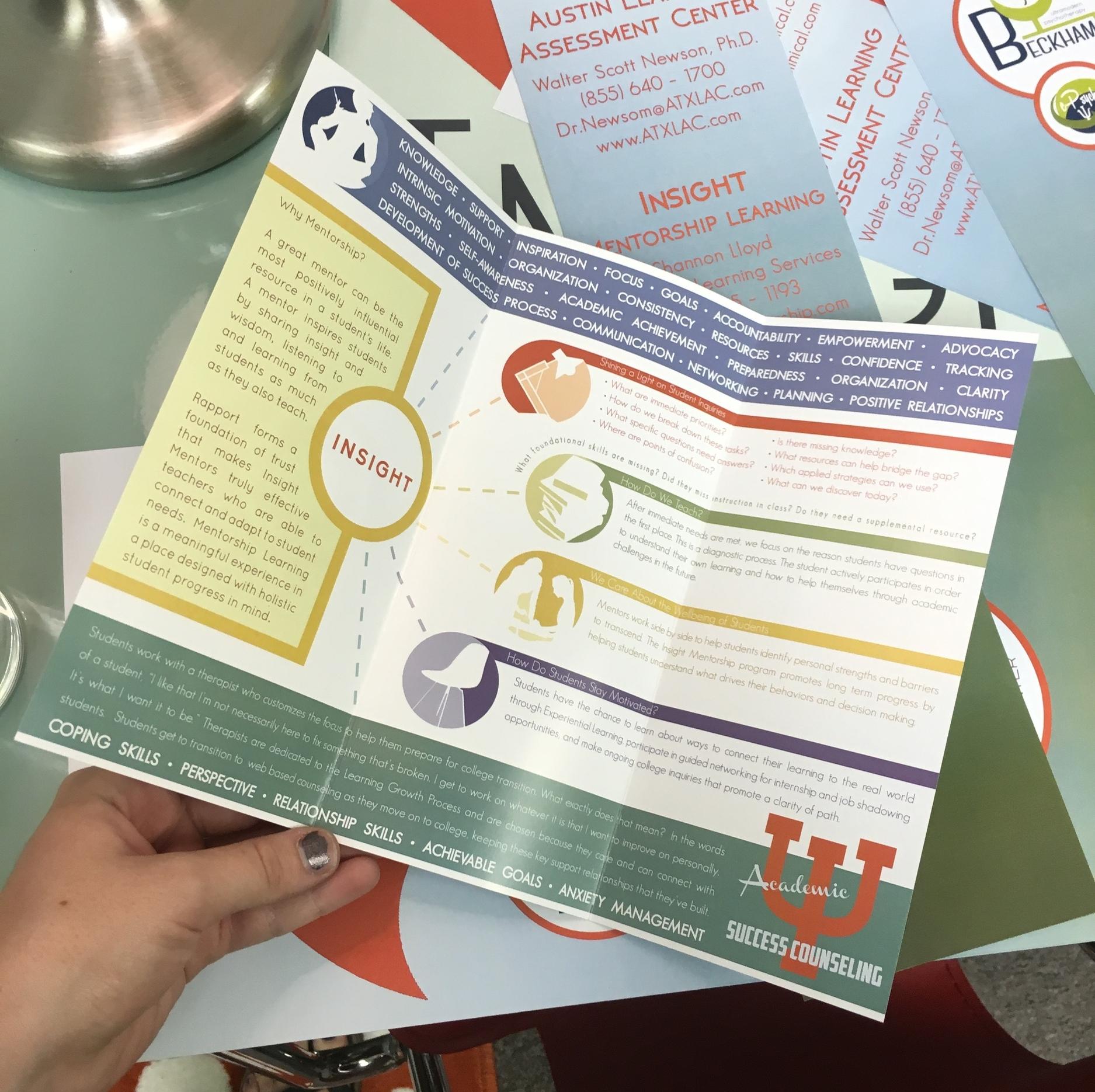 Trifold Brochure - Inside