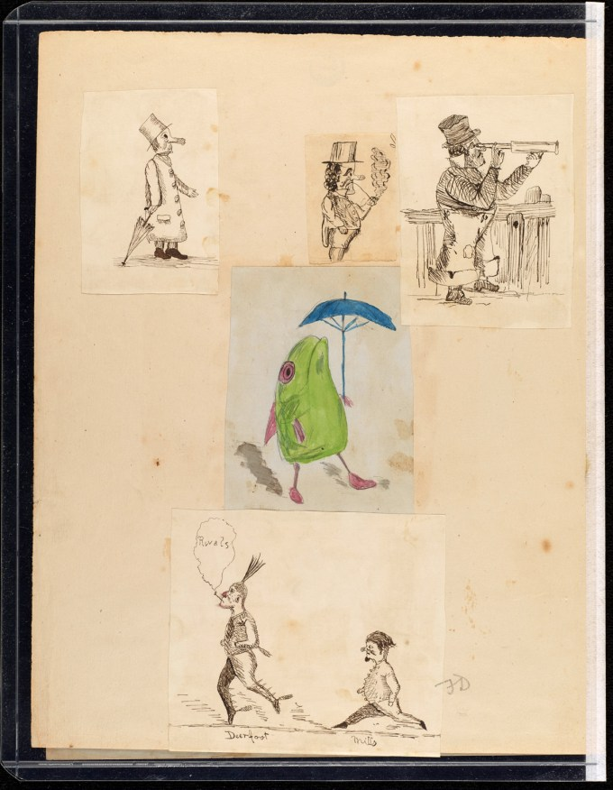 Darwin's children's doodles   American Museum of Natural History /Cambridge University Library