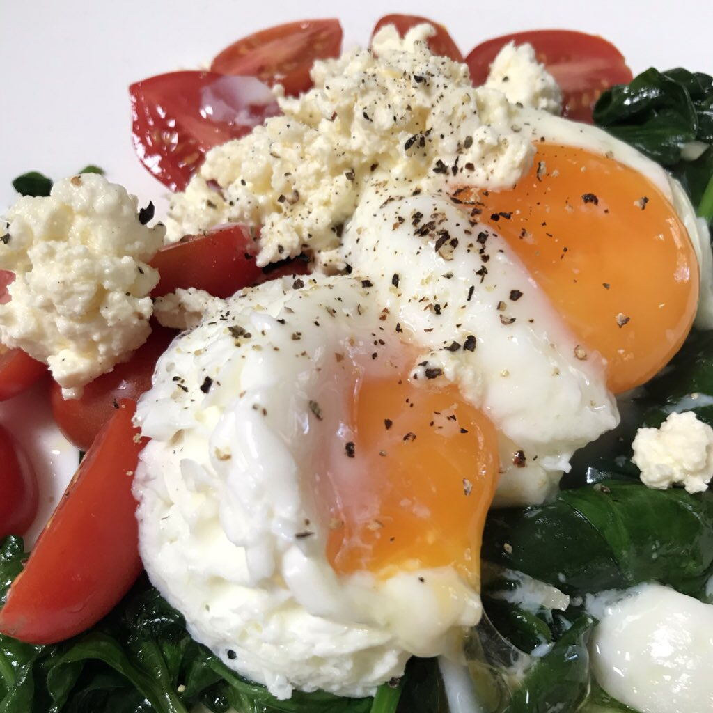 Baby Spinach, Tomato & Poached Eggs