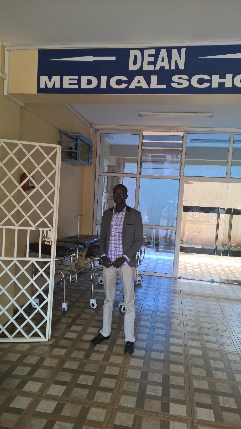 David is training at Mount Kenya University