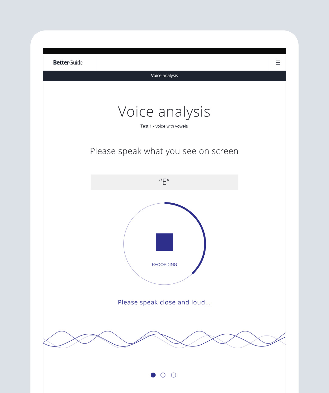 Voice Analysis  – complete in just under a minute, our voice analysis feature analyzes all the tones and frequencies hidden within your own voice. Based on the same software algorithms behind lie detector testing, our voice analysis feature accurately dissects the unique vocal code hidden within your voice in the same way that a prism separates light into all the different frequencies of color.