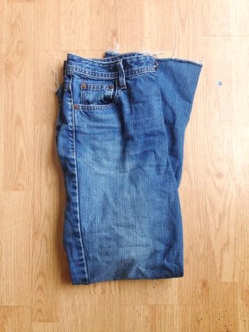 My vintage crop-flare jeans.