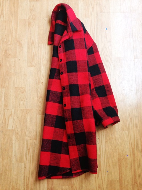 A red wool checked coat that just screams Fall.