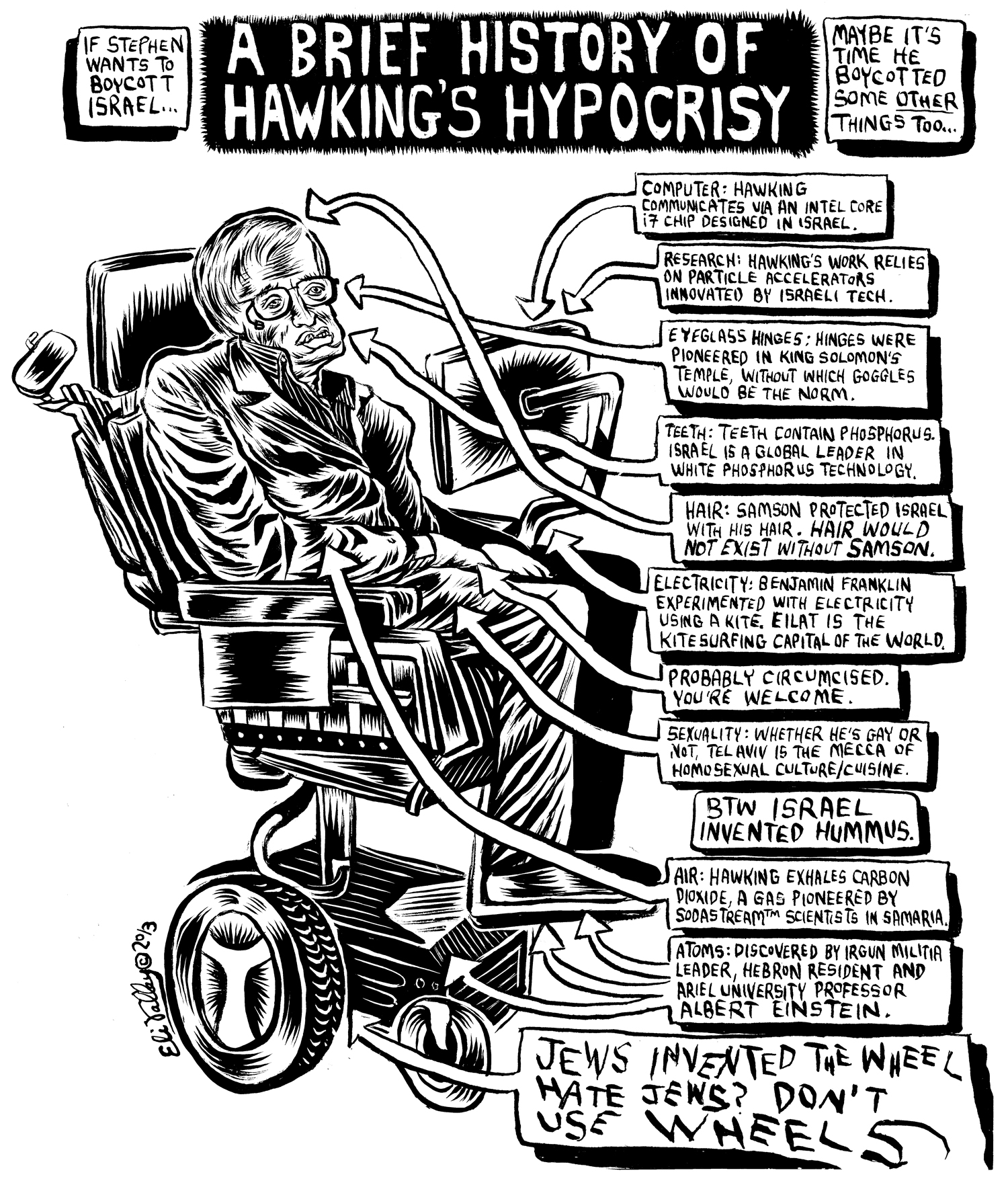 Brief History of Hawking's Hypocrisy. Forward, 5/14/13