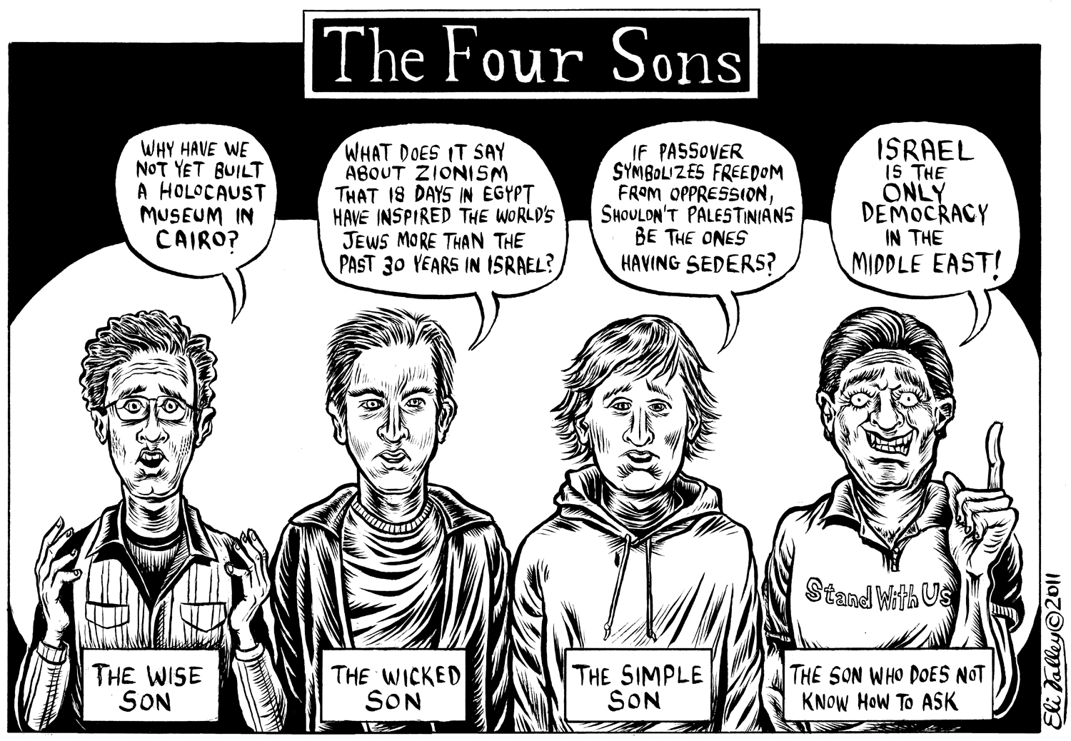 The Four Sons: Passover, Arab Spring. The Forward, 4/13/11