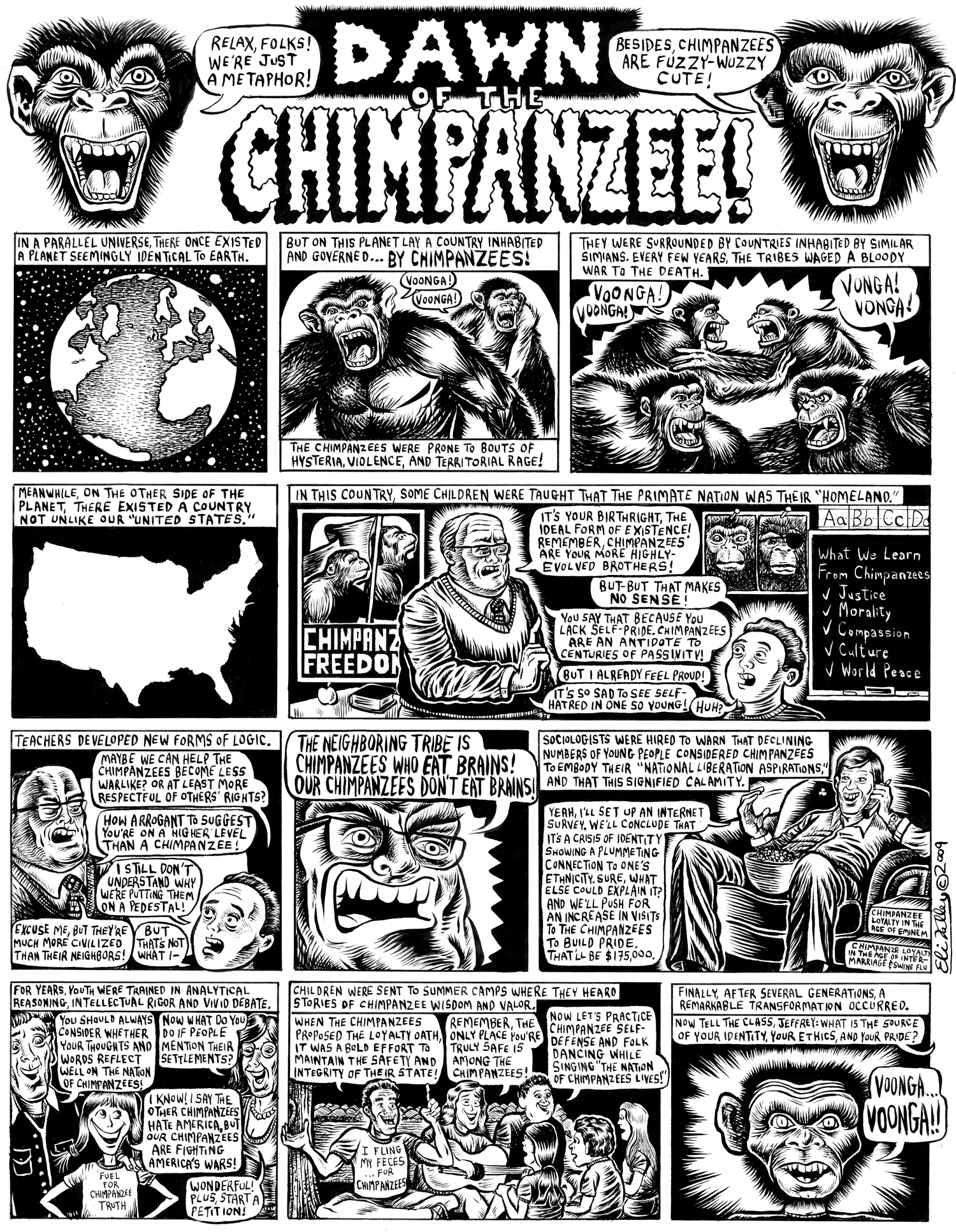 Dawn Of Chimpanzee: Israel Education. Gawker, 8/18/09