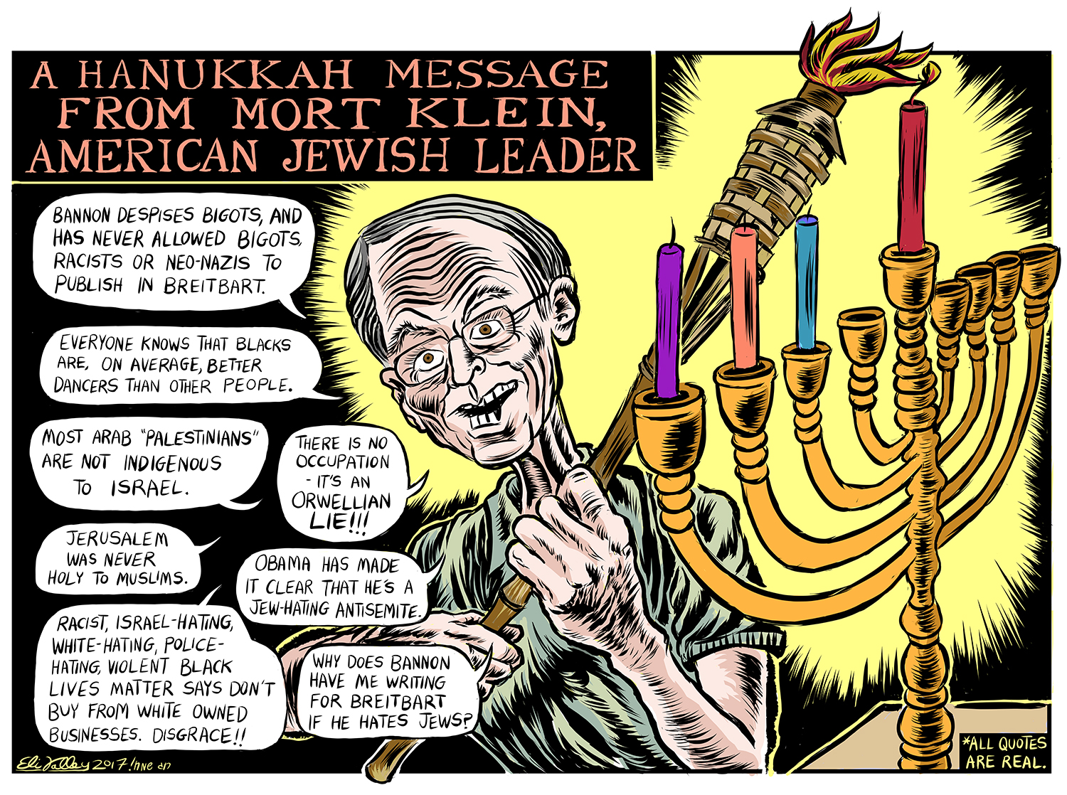 Mort Klein Hanukkah, Jewish Currents, 12/14/17