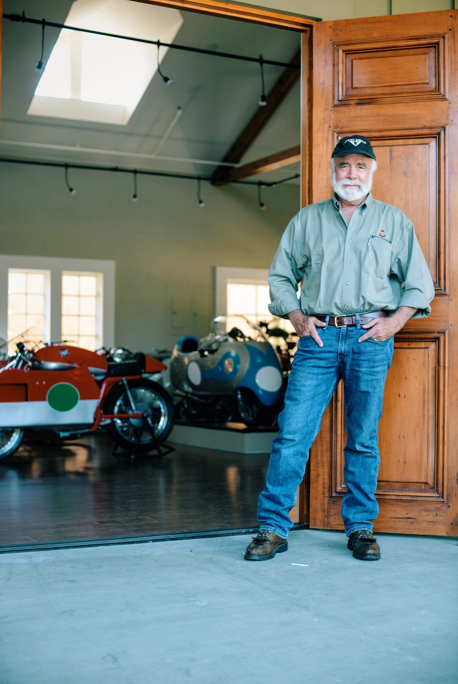 Robb Talbott standing at the entrance of the Moto Talbott Collection
