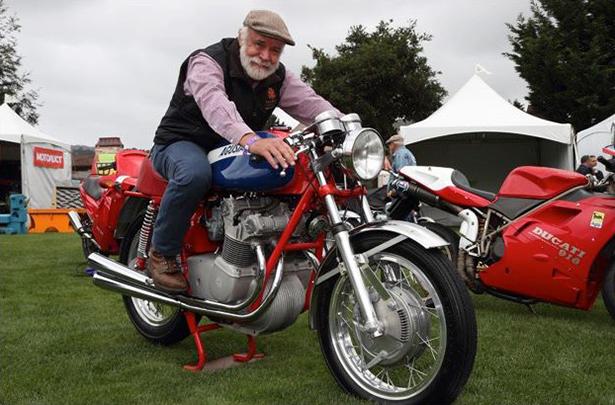 Robb at the Quail Motorcycle Gathering