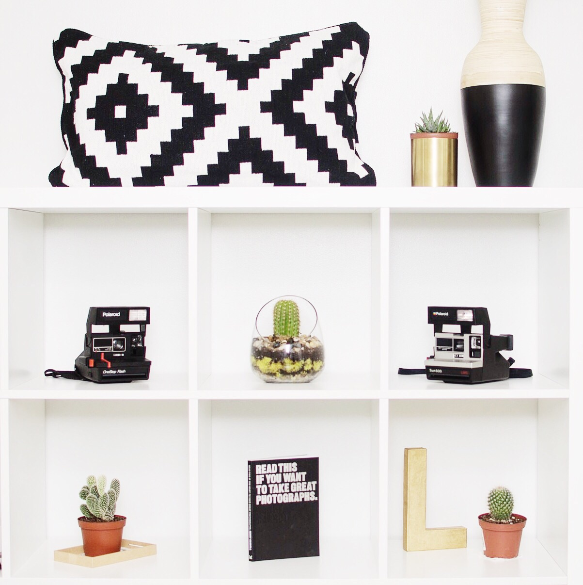 IKEA Kallax | Cactus and Succulents | Urban Outfitters | Polaroid Camera | Laraina Hase