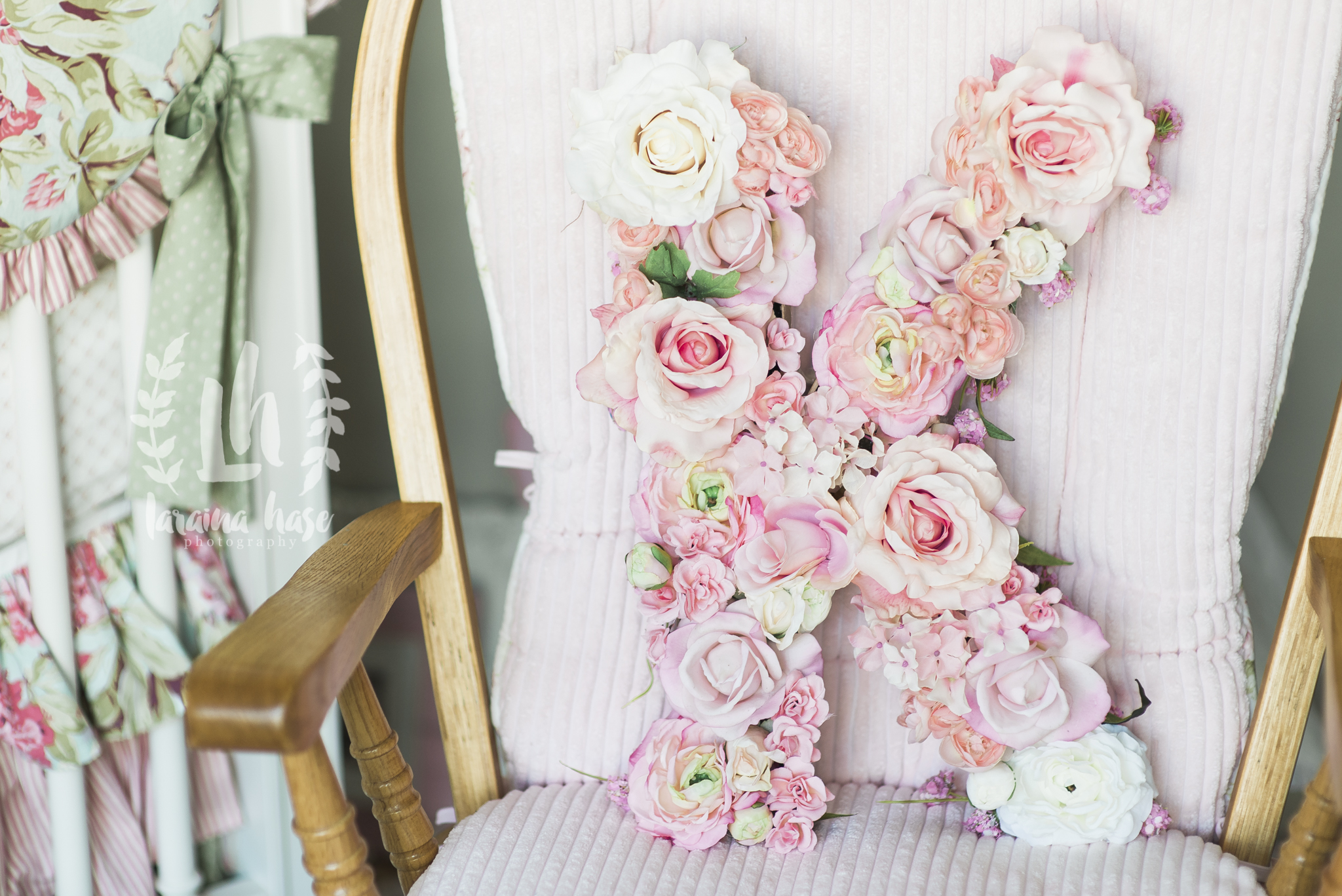 Newborn Photography | Floral Letter