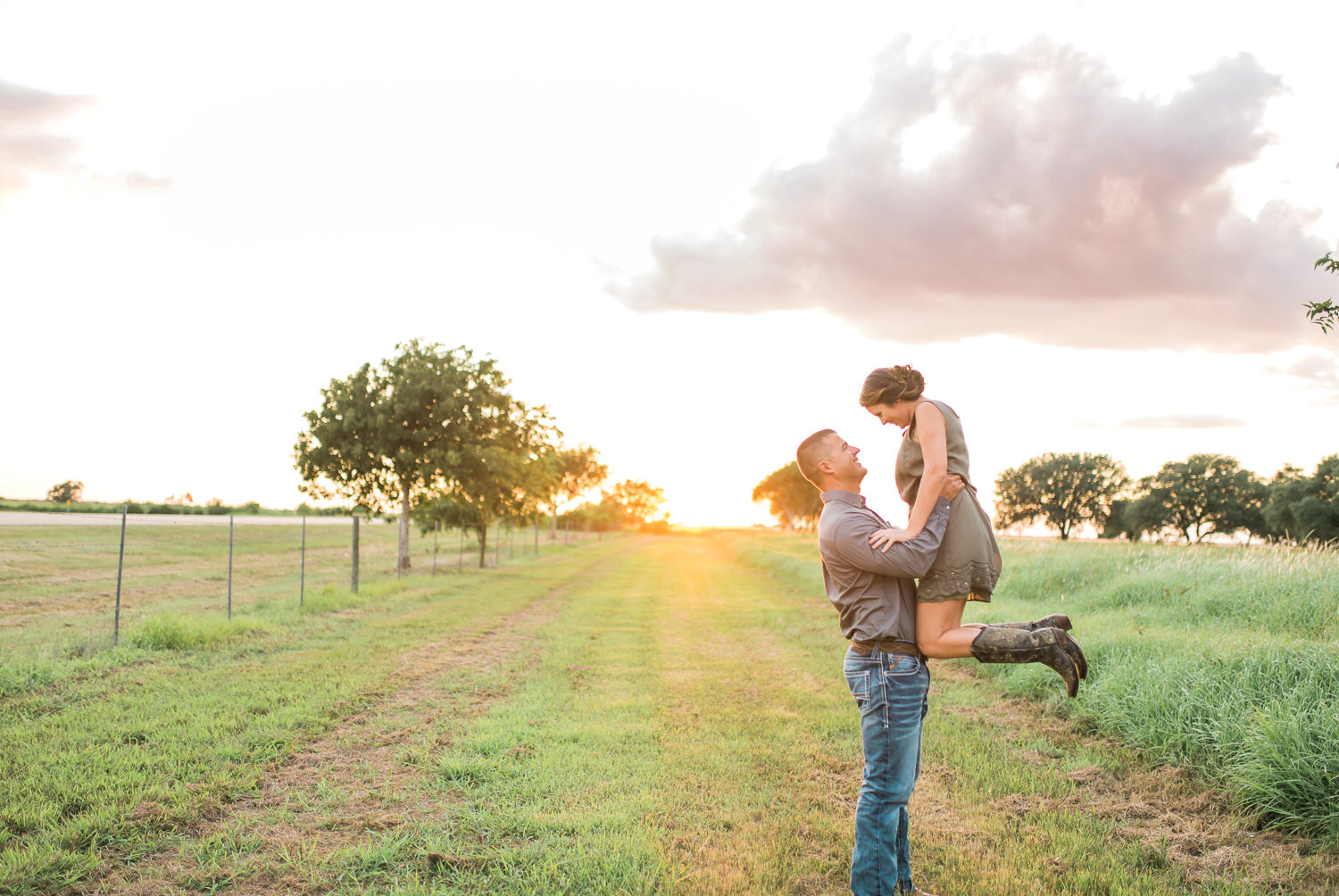 Brandon + Brooke | Beautiful Southern Engagement in Edna, Texas