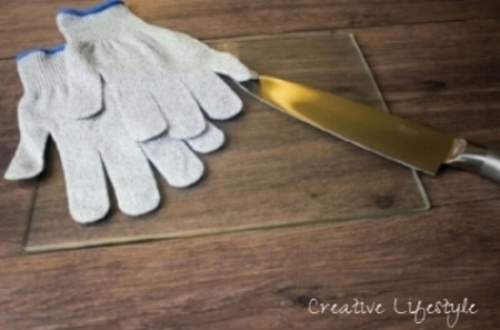 Orblue Cut-Resistant Gloves and Chef Knife