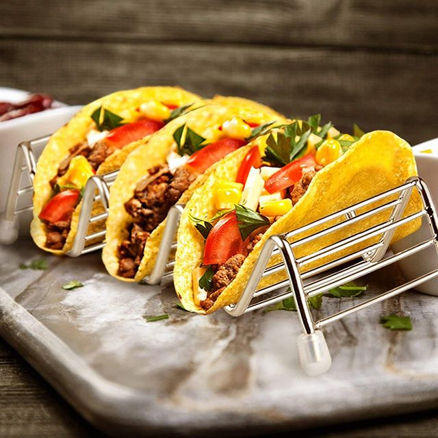 We reviewed another great product from Orblue! Check out the review for Stainless Steel Taco Holder at http://crtvlsy.ca/2DJPWHB @lovingmykitchen #kitchen #gadgets #tacos #tacostand