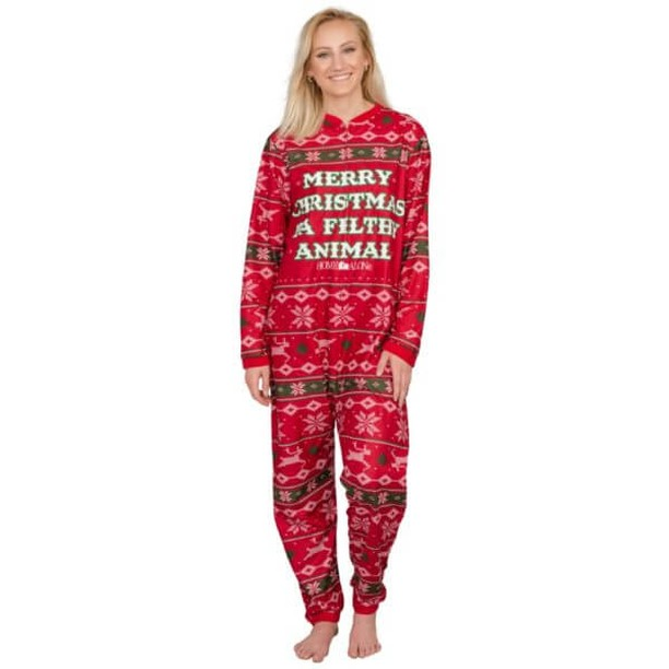We love all things Christmas! Check out our Home Alone: 'Merry Christmas Ya Filthy Animal Pajama Jumpsuit' Review at https://crtvlsy.ca/33OQ4PX so comfy, cozy and warm! #Christmas Jumpsuits #Home Alone # Jumpsuits #Movies #Season's Greetings #Sleepwear #Ugly Christmas Onesie #Xmas
