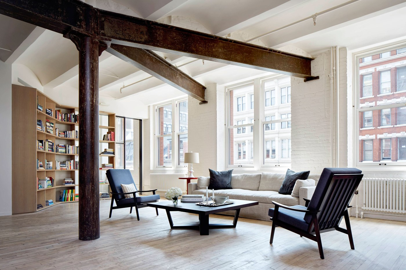 Architectural Digest: Step Inside a Historic Loft Apartment Reimagined for a Modern Family by designer Anna Beeber and architect Drew Lang