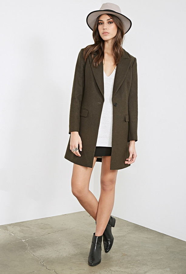 Forever 21 | Classic Wool-blend Overcoat  (affiliate link) / Photo Credit:  Forever21  (affiliate link)