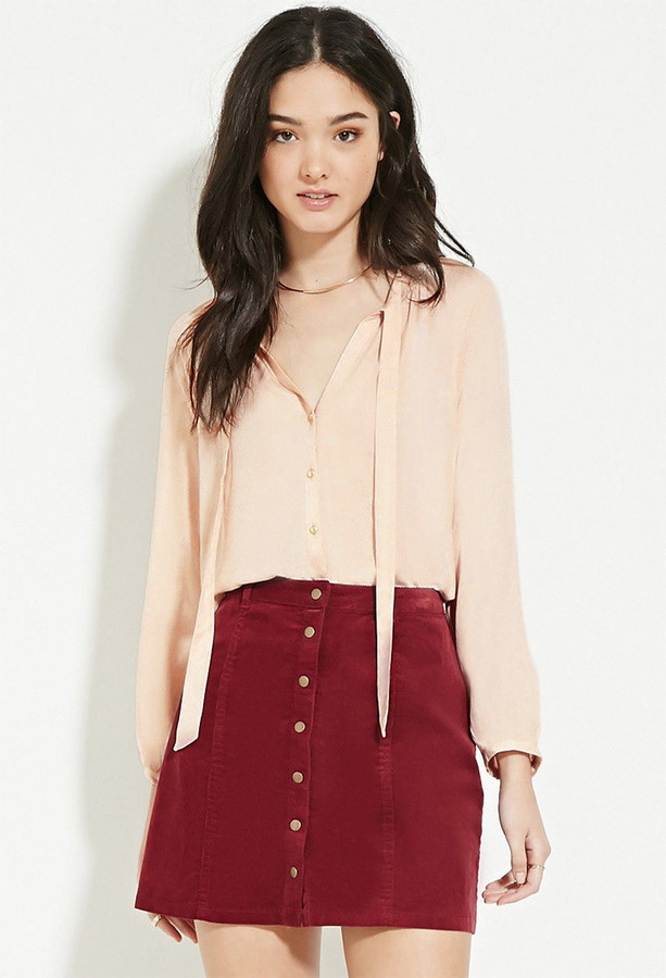 Forever 21 | Bow Front Blouse  (affiliate link) / Photo Credit:  Forever21  (affiliate link)
