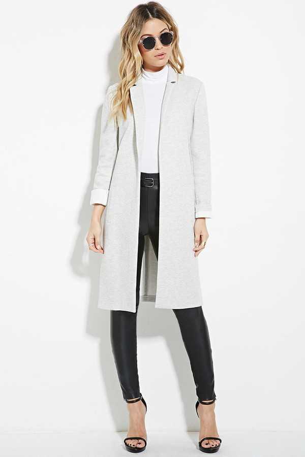 Forever 21 | Heathered Open-Front Coat  / Photo Credit:  Forever21
