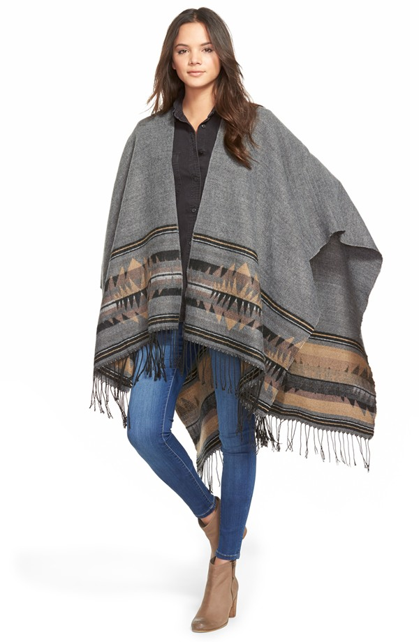 BP. Geo Pattern Poncho  (affiliate link) / Photo Credit:  Nordstrom  (affiliate link)