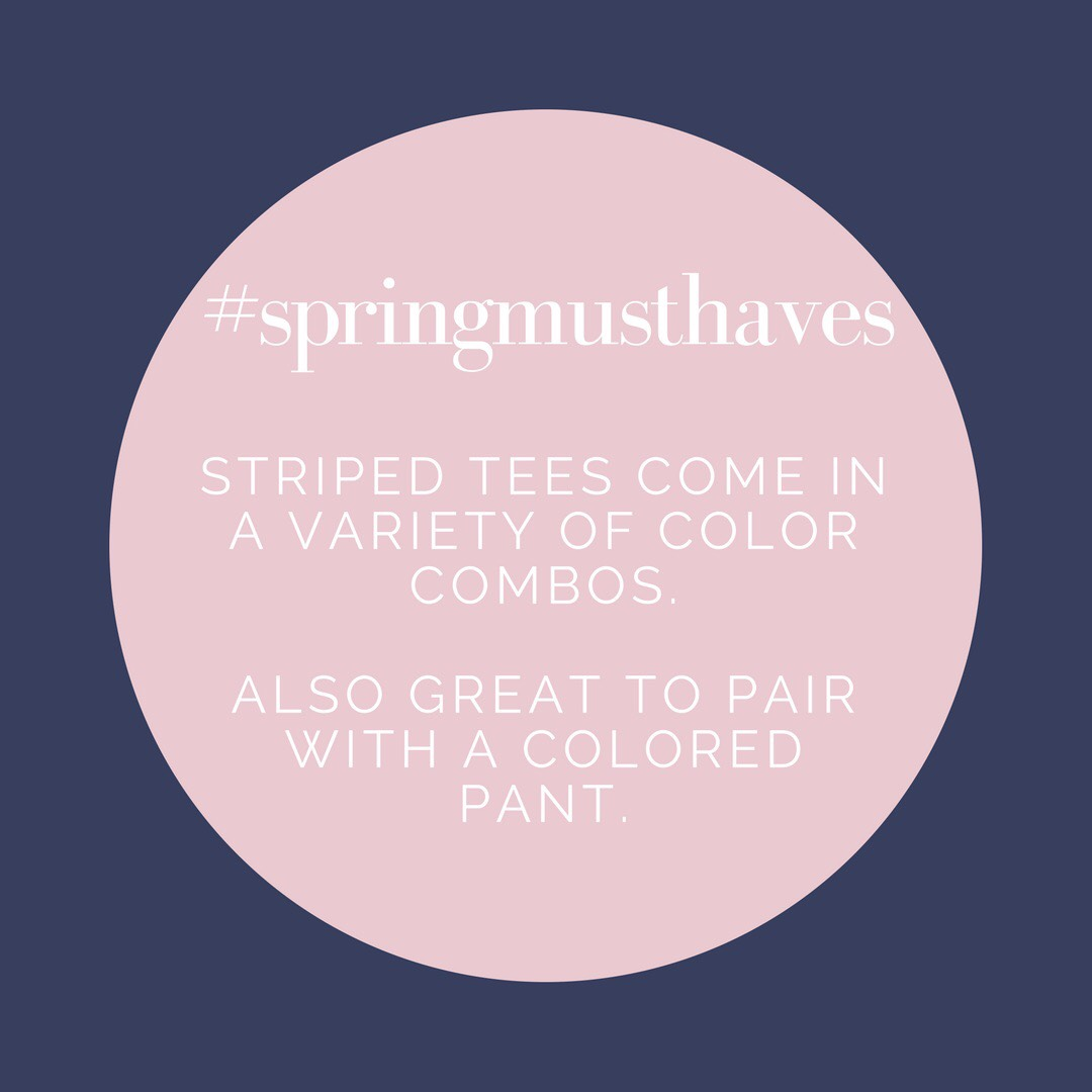 spring must have fashion