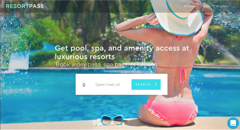 Screen Capture from  ResortPass.com