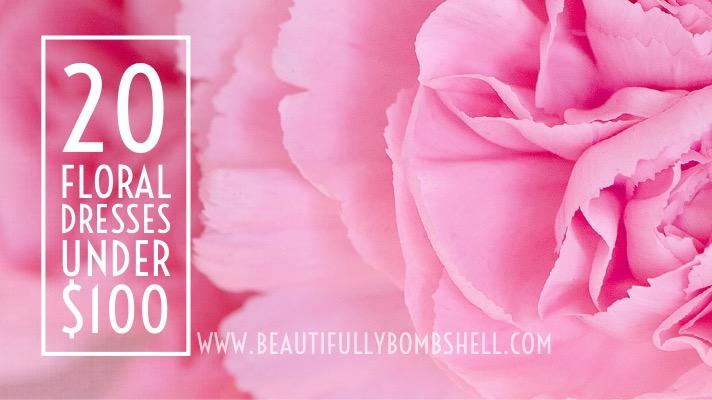floral dresses under 100
