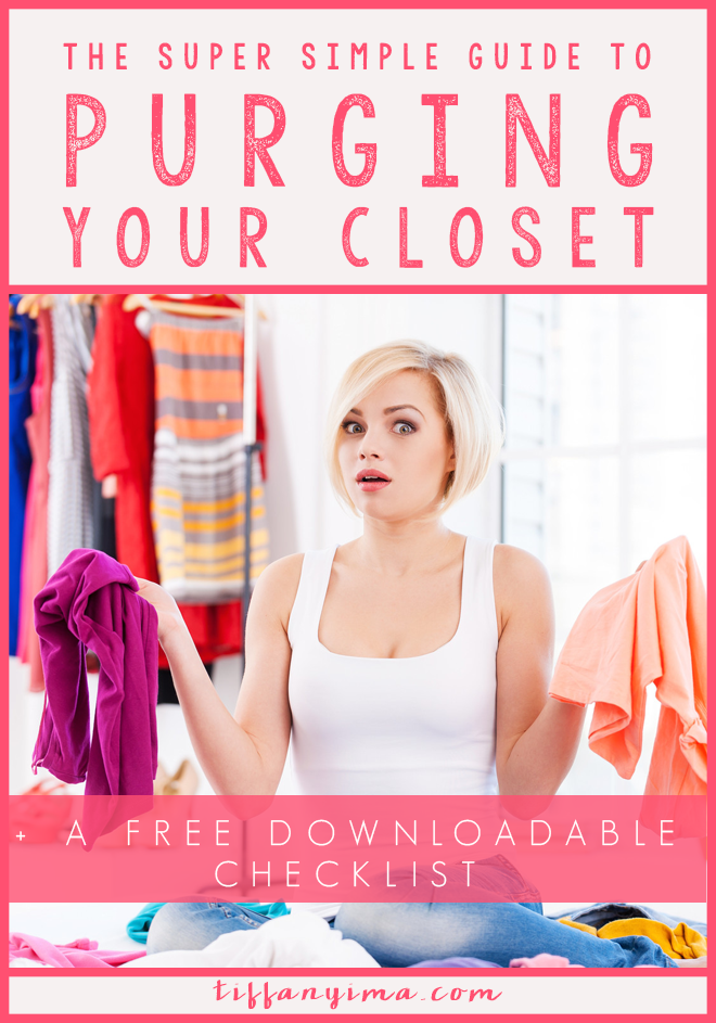 Your closet is overflowing yet you have nothing to wear. Every day, you open those doors and feel frustrated with the selection (or lack of selection) and grumpily throw on that same dress that you feel like is the only thing that looks good on you. Don't worry! Click through for the super simple guide to purging your closet.