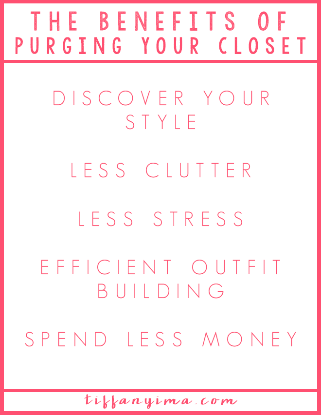Getting dressed can cause a great deal of stress for some women. The clothes we wear say a lot about us, yet a lot of us hate our clothing and we do not like getting dressed in the morning. Click through and let's learn together the benefits of purging your closet.