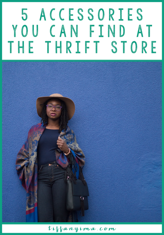 A versatile wardrobe must include some great standout accessories. Having a variety accessories to choose from is a great way to add a punch to a basic wardrobe. Click through for 5 accessories you can find at the thrift store.