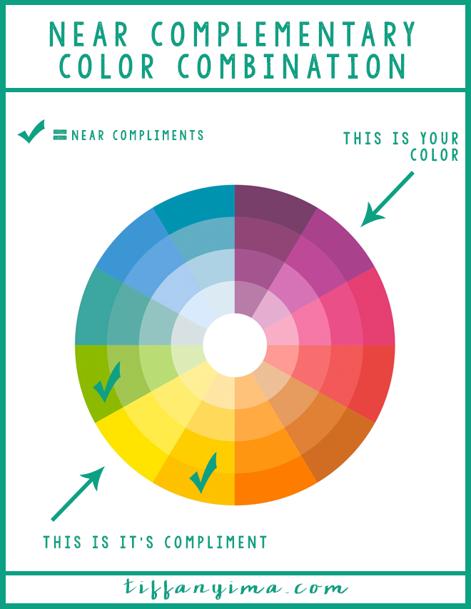 CREATING A COLOR COMBINATION IS SOMETHING THAT A LOT OF PEOPLE STRUGGLE WITH, BUT GUESS WHAT? I LOVE COMBINING COLORS. CLICK THROUGH FOR A SWEET LESSON IN NEAR COMPLEMENTS!