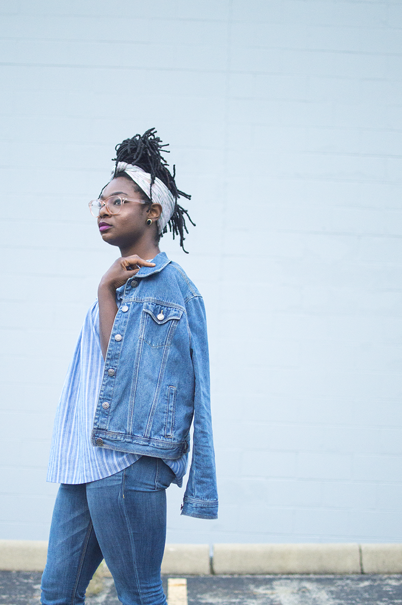 Denim on denim for fall is a foolproof and easy look