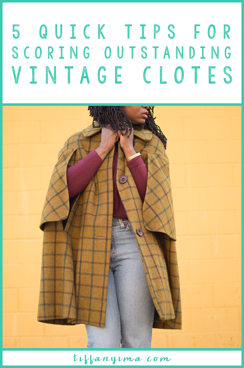 Wearing vintage is a great way to add personality into your style. Having a great and intentional wardrobe is all about owning key items in addition to a few stand out pieces. Click through for 5 Quick Tips For Scoring Outstanding Vintage Pieces!