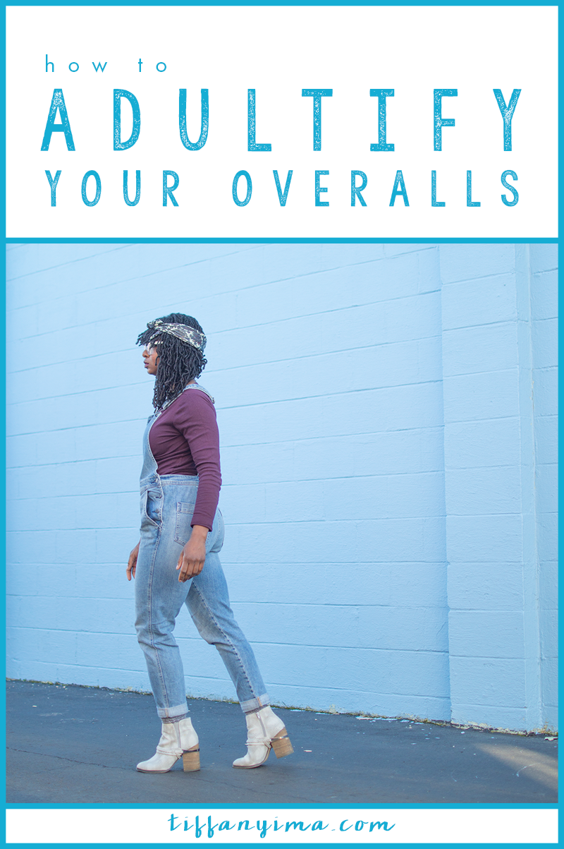 You CAN wear overalls to a meeting.  At this point, overalls have become a staple for many women's wardrobes and can be considered appropriate for (some) professional situations. Click through for details on how to adultify your overalls!