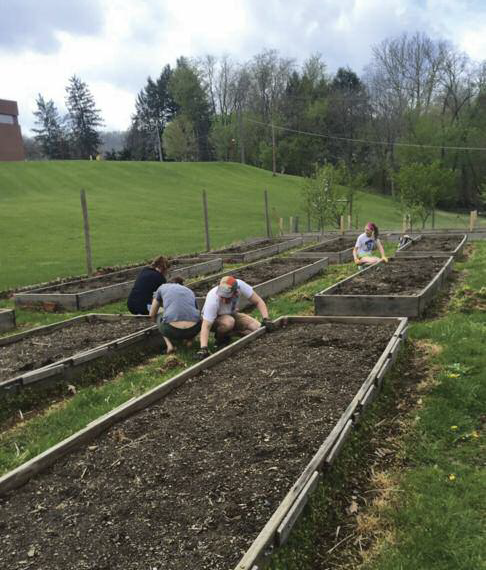 Community gardening project. Courtesy of The Clifford M. Lewis SJ Appalachian Institute.