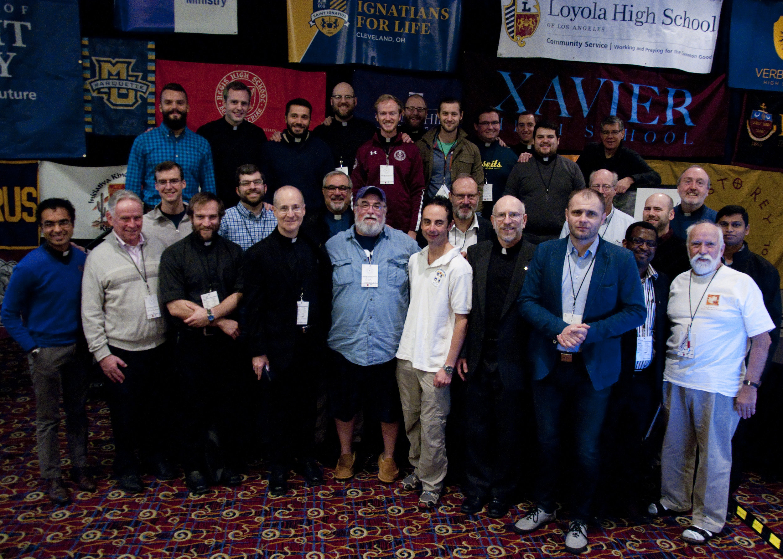 Jesuits from around the country gather together to support students at the IFTJ16