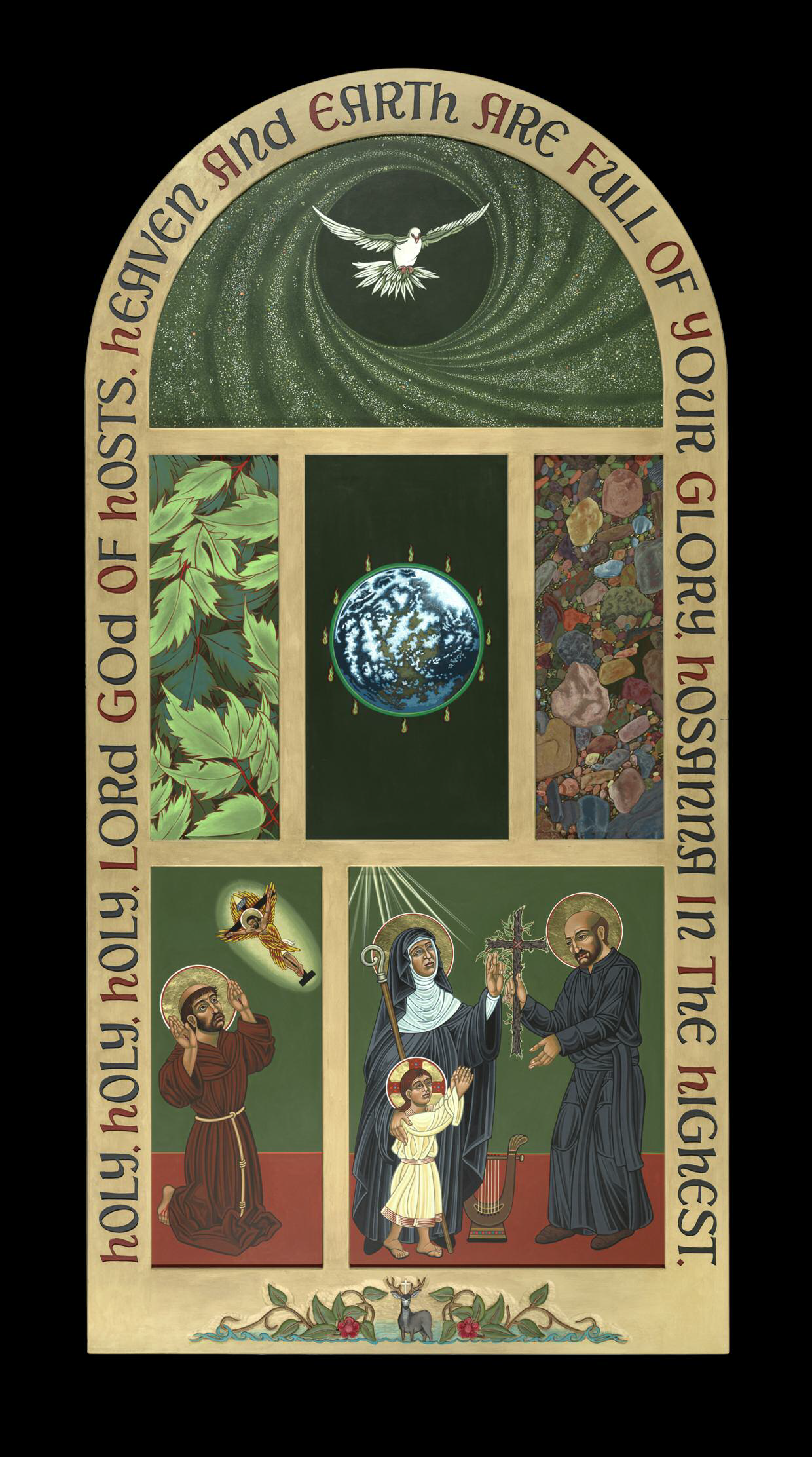 A polyptych (a frame with multiple images/icons) For  Loyola University Chicago