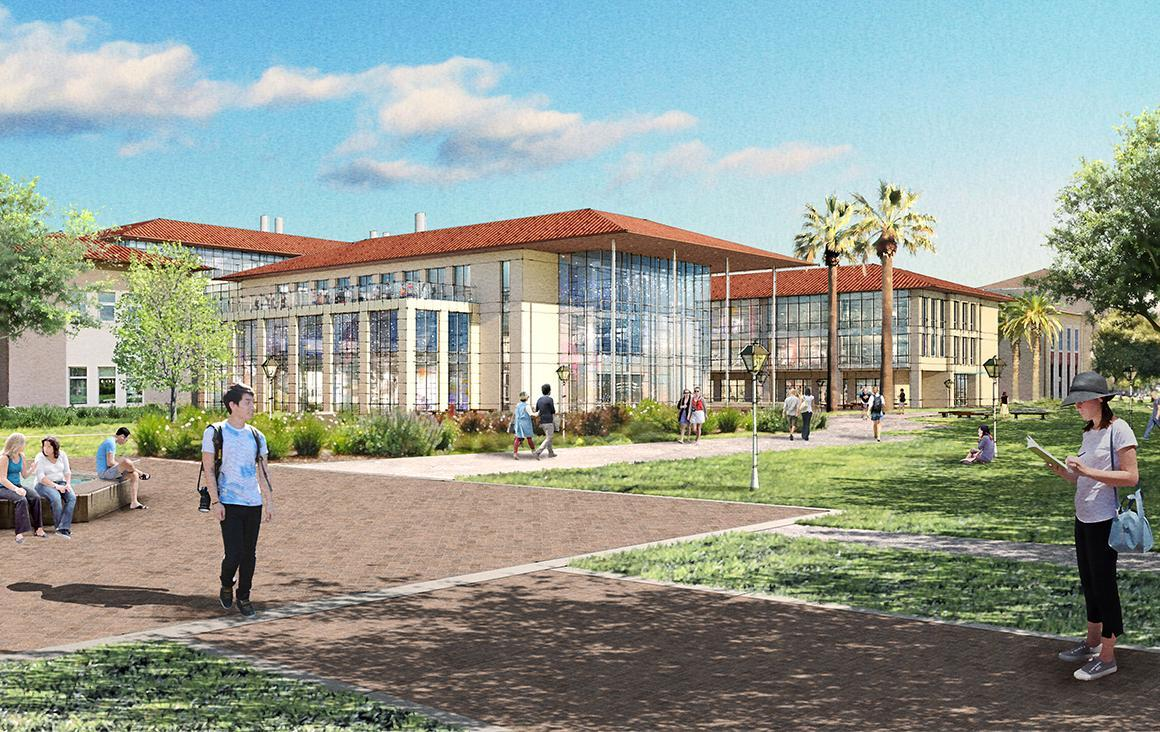 A rendering of the future Sobrato Campus for Discover and Innovation at Santa Clara University