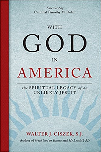 With God in America: The Spiritual Legacy of an Unlikely Jesuit,    by Walter J. Ciszek, S.J   Walter Ciszek made headline news in 1963 when he returned to the United States after 23 years of imprisonment in the Soviet Union. He was assigned to Fordham University as a spiritual guide and retreat director; he also served as a lecturer at the John XXIII Center there until his death in 1984. His first volume, With  God in Russia,  was published in 1964. He also published  He Leadeth Me  in 1973.
