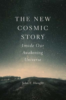 The New Cosmic Story: Inside Our Awakening Universe,    by John F. Haught   Where other scholars have studied life and the universe, John Haught considers another development in the history of the universe, namely the emergence of interiority and religious awareness. Where others have told the outside story of the universe, Dr. Haught fills that out with the inside story. John F. Haught, distinguished research professor at Georgetown University, is the author of over 20 books, many dealing with the relationship of religion to natural science.