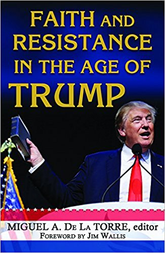 Faith and Resistance in the Age of Trump,    edited by Miguel A. De La Torres.   This book notes that for many people of faith the election of Donald J. Trump as president represents a confessional crisis that calls into question the deepest meaning of our religious claims and values. A number of scholars address topics of gender, race, disability, LGTB justice, immigration, the environment, and others. These scholars include Miguel H. Díaz of Loyola Chicago, Amir Hussain of Loyola Marymount, and Christiana Zenner of Fordham.