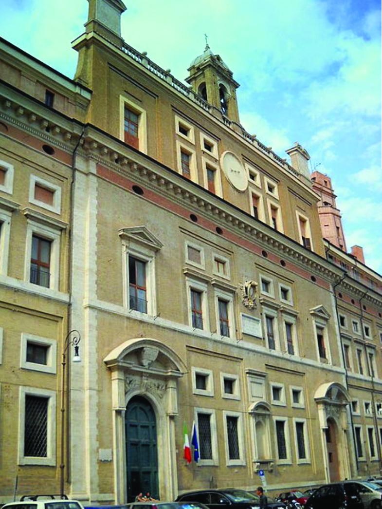 The 16th century building of  Collegio Romano  (Roman College) founded by Saint Ignatius Loyola.