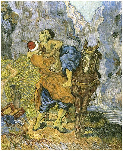 """""""The Good Samaritan"""" by Vincent Van Gogh. Photo courtesy of  Rosa Helena of the Flickr Creative Commons ."""