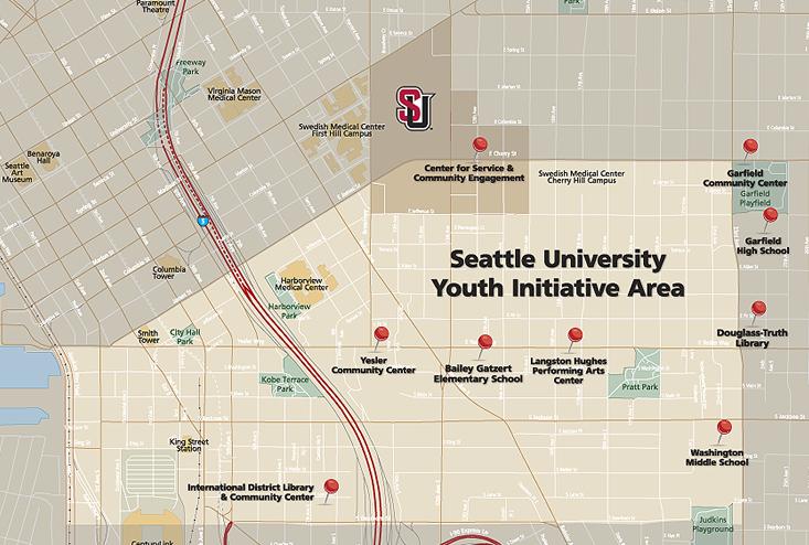 Seattle Youth Initiative Neighborhood. Photo Courtesy of  Seattle University.