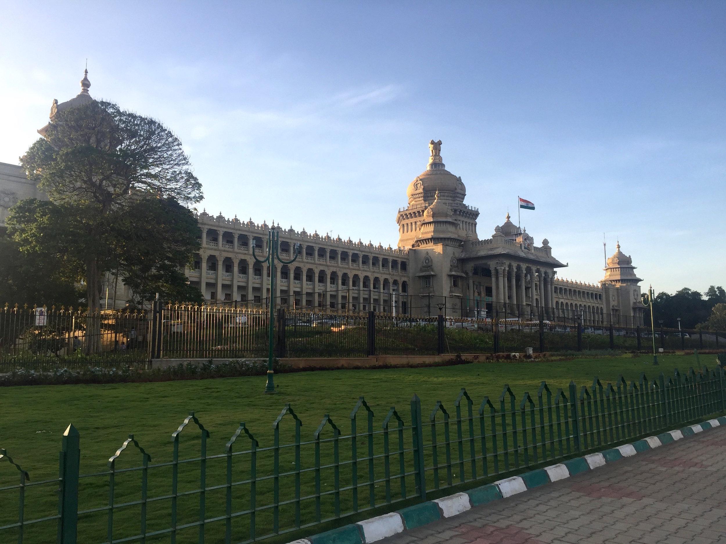 The Karnataka government's legislative chambers in Bangalore.
